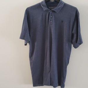 Hurley Size L Men's Blue Polo